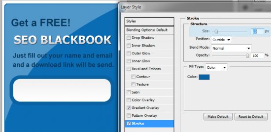 13 input text with stoke 550x269 How to Create your Own Opt in Form in Photoshop