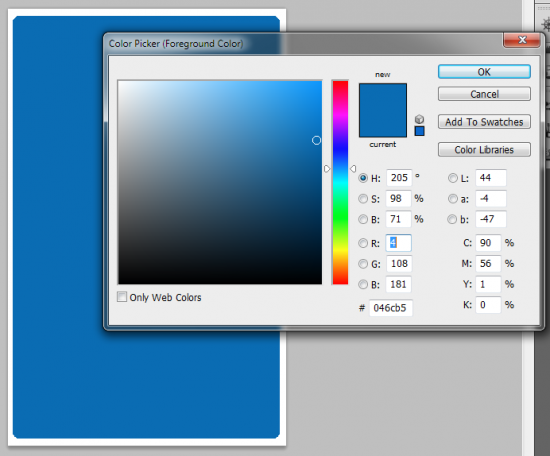 2 pick color1 550x456 How to Create your Own Opt in Form in Photoshop
