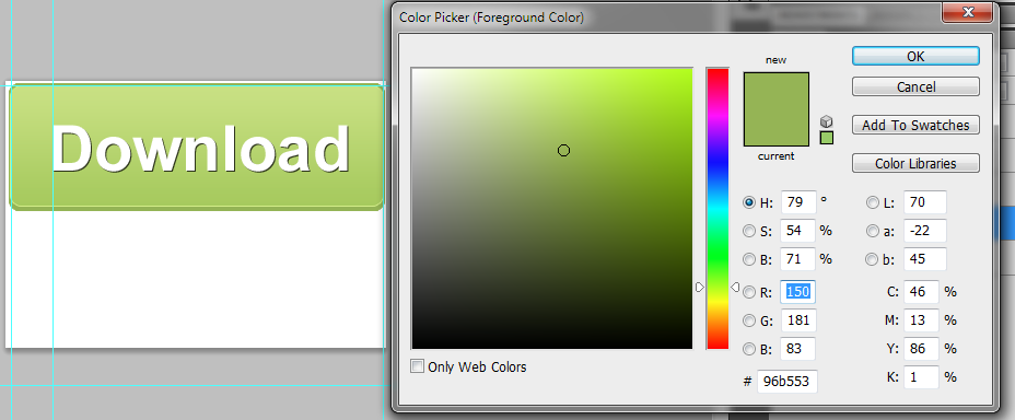 shadow-color buttons-demo in photoshop - Sanjay Khemlani