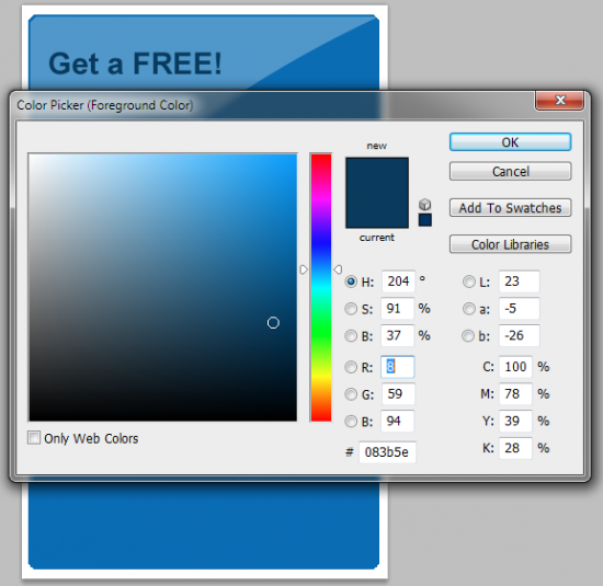 7 text get free 550x535 How to Create your Own Opt in Form in Photoshop