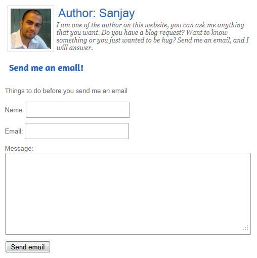 Author Contact Form How to Create a Contact Author Form without a Plugin