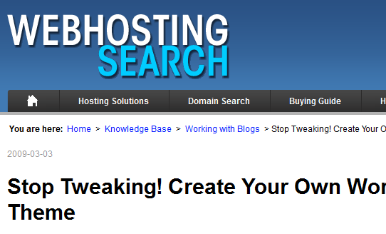 www.webhostingsearch.com 2011 8 19 21 41 47 10 Best Wordpress Theming Tutorials