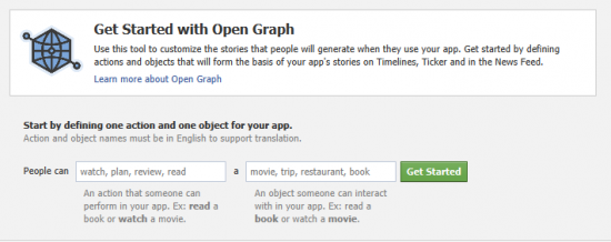 3 open graph in facebook 550x218 How to create Facebook Timeline in your Profile