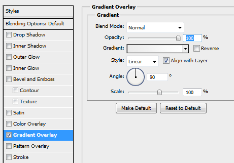 10 gradient settings How to Create Modal Window in Photoshop