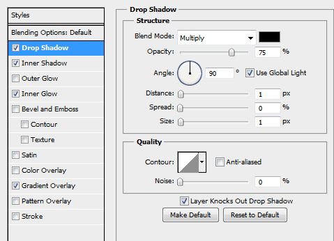 11 gradient for second button How to Create Sleek Button Design in Photoshop