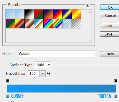 13 gradient for focused button How to Create Mini Web UI Buttons in Photoshop