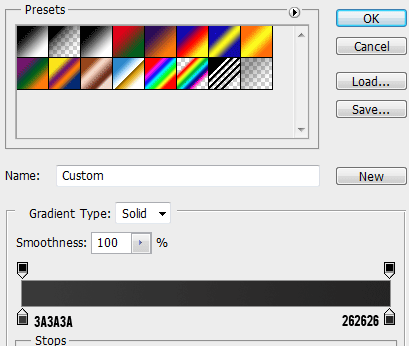13 gradient settings How to Create a Login Screen in Photoshop