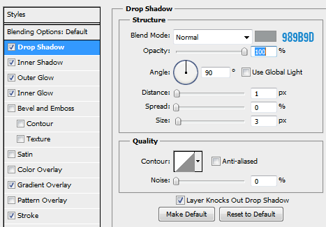 14 drop shadow for focused button How to Create Mini Web UI Buttons in Photoshop