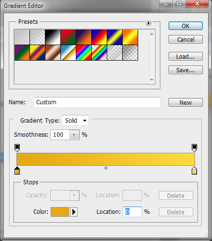14 gradient for second background buttons How to Create Sleek Button Design in Photoshop