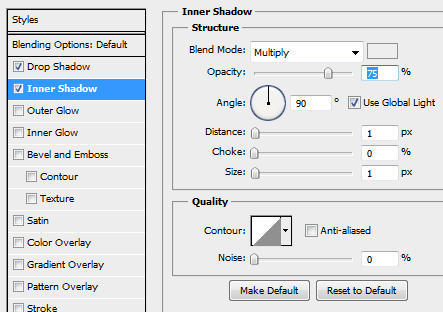 15 inner shadow home navigation How to Create Dark Web Design in Photoshop