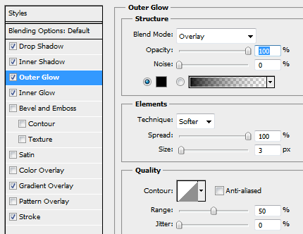 16 outer glow for focused button How to Create Mini Web UI Buttons in Photoshop