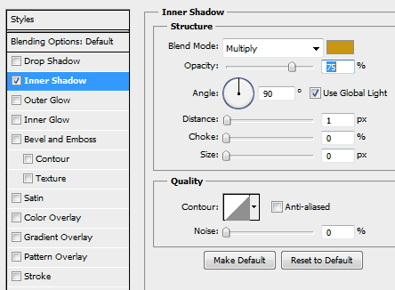 17 inner shadow for text How to Create Sleek Button Design in Photoshop