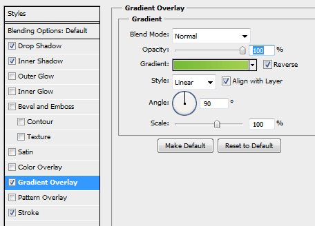 20 gradient setting for yes button How to Create Modal Window in Photoshop