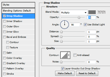 23 drop shadow for yes text1 How to Create Modal Window in Photoshop