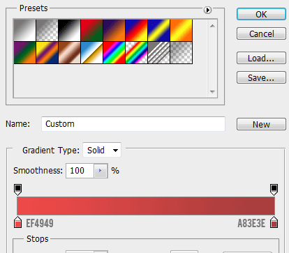 27 gradient colors for no button How to Create Modal Window in Photoshop