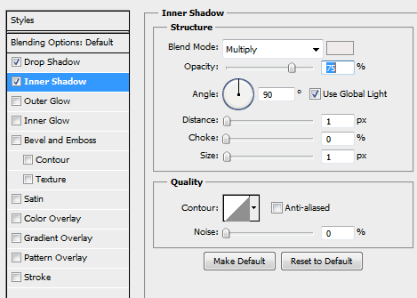 31 inner shadow for button How to Create Dark Web Design in Photoshop
