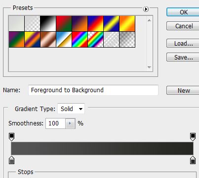 4 gradient for header How to Create Dark Web Design in Photoshop