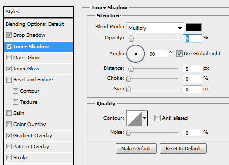 6 inner shadow for button How to Create Sleek Button Design in Photoshop