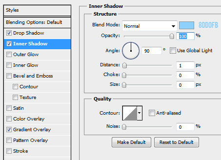 6 inner shadow for normal button How to Create Mini Web UI Buttons in Photoshop