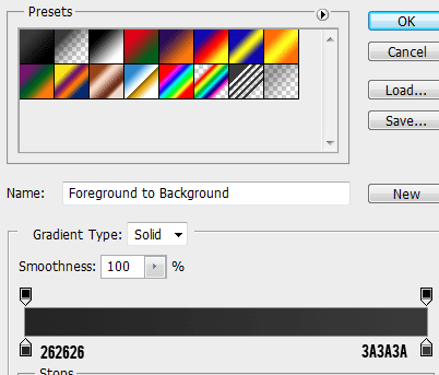7 gradient for header How to Create a Login Screen in Photoshop