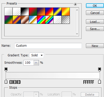 9 gradient for top How to Create Modal Window in Photoshop