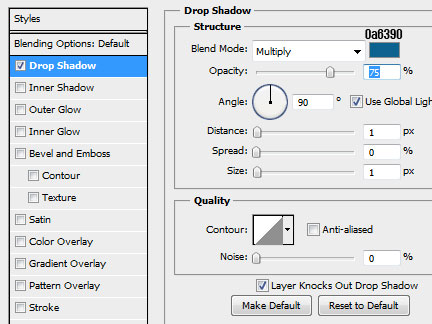 17 header text dropshadow How to Create a Calendar in Photoshop