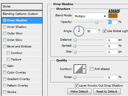 27 calendar 25 text drop shadow How to Create a Calendar in Photoshop