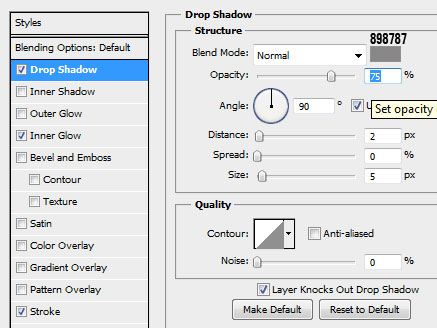 6 body dropshadow How to Create a Calendar in Photoshop