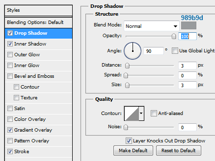 19 slider tooltip dropshadow How to Create Slider Tooltip in Photoshop