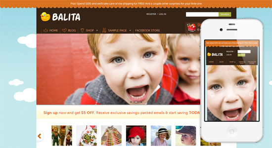 balita Collection of Free Responsive Wordpress Themes