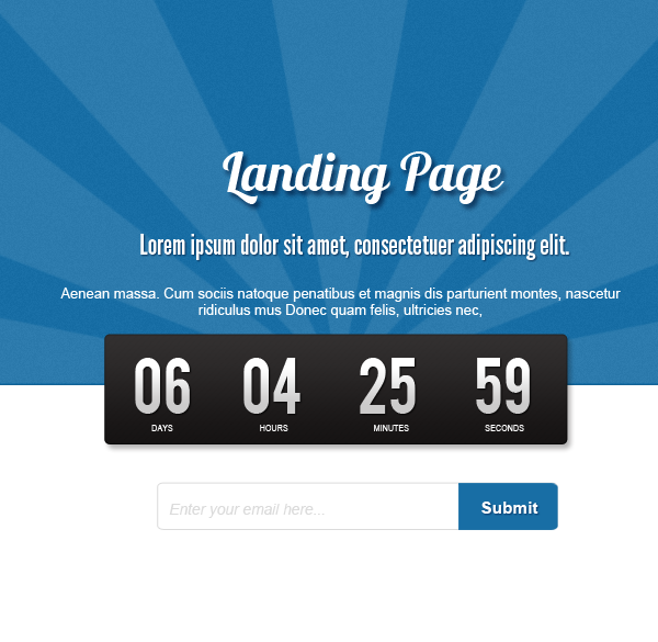 landing page How to Create a Minimalist Coming Soon Page in Photoshop