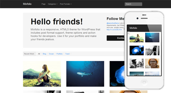 mixfolio Collection of Free Responsive Wordpress Themes