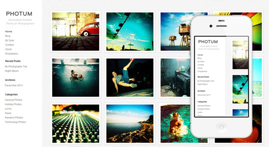 photum Collection of Free Responsive Wordpress Themes