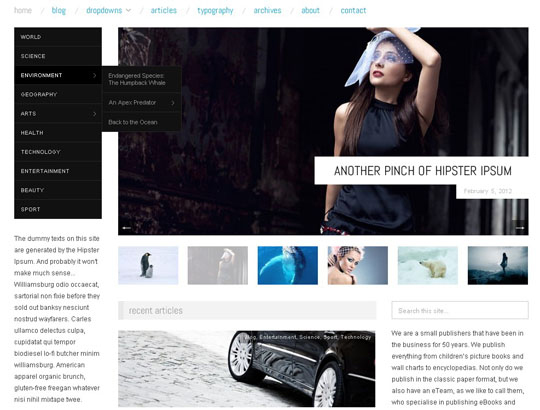 wp responsive theme 12 Collection of Free Responsive Wordpress Themes