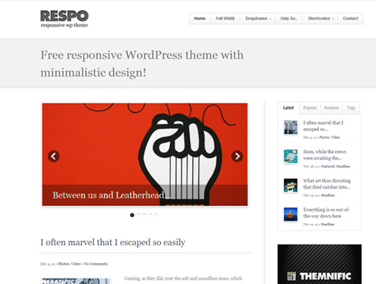 wp responsive theme 16 Collection of Free Responsive Wordpress Themes
