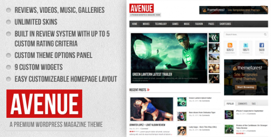 01 Preview.  large preview 550x279 18 Free and Premium Wordpress Video Themes