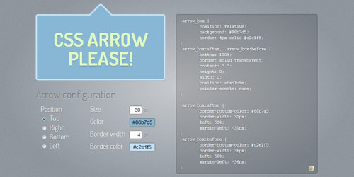 css arrow please Collection of CSS3 Generators and Tools