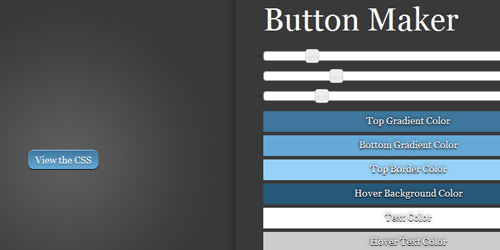 css button maker Collection of CSS3 Generators and Tools