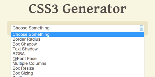css3 generator Collection of CSS3 Generators and Tools