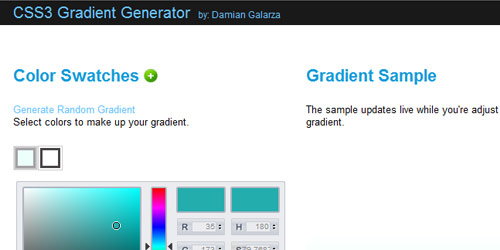 css3 gradient generator Collection of CSS3 Generators and Tools