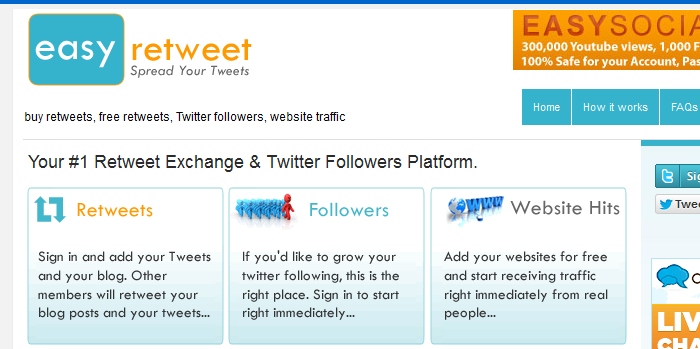easyretweet.com  List of Free Retweet Services to Maximize your Traffic
