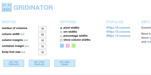 gridinator Collection of CSS3 Generators and Tools