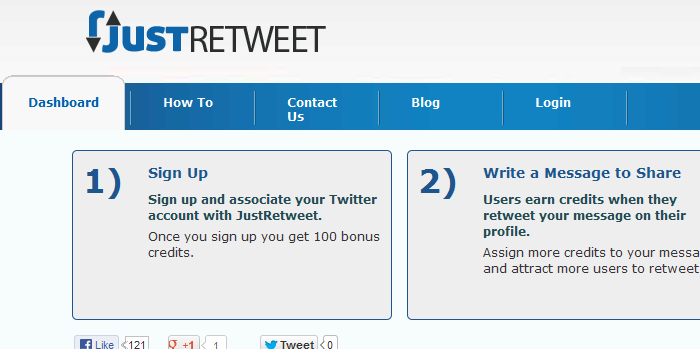 www.justretweet.com  List of Free Retweet Services to Maximize your Traffic